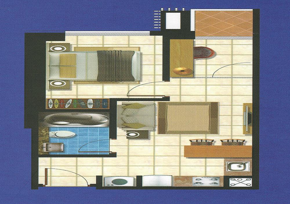 Condo Azalea Floor Plan
