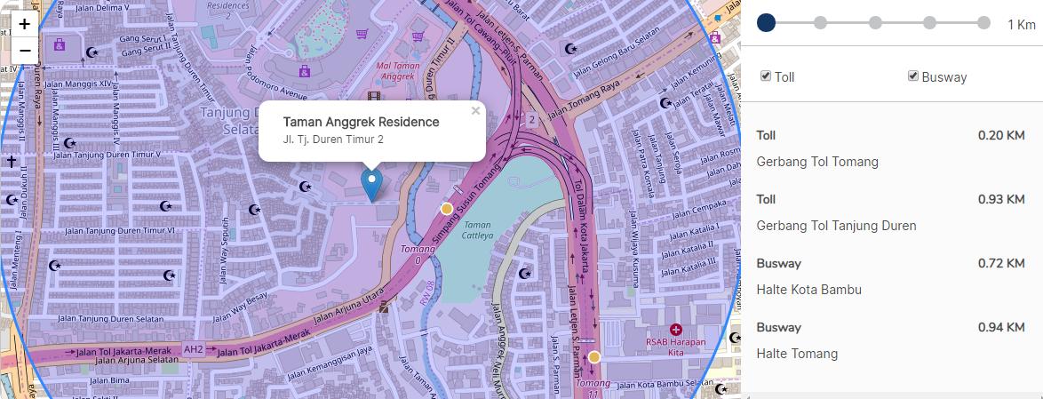 Sewa Apartemen Jakarta Barat - Peta Taman Anggrek Residence